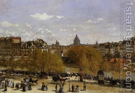 Quai Du Louvre by Claude Oscar Monet - Reproduction Oil Painting