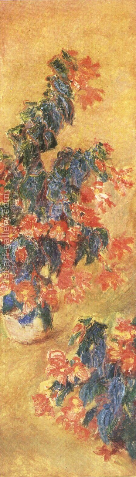 Red Azalias In A Pot by Claude Oscar Monet - Reproduction Oil Painting