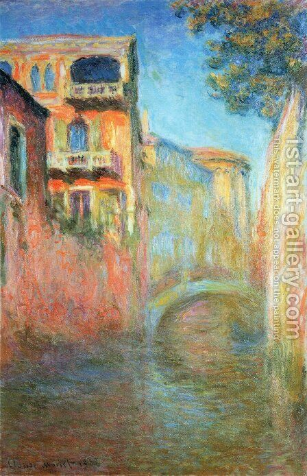 Rio Della Salute by Claude Oscar Monet - Reproduction Oil Painting