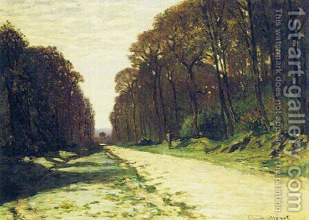 Road In A Forest by Claude Oscar Monet - Reproduction Oil Painting