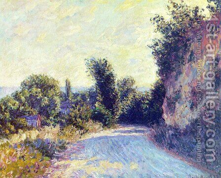 Road Near Giverny by Claude Oscar Monet - Reproduction Oil Painting