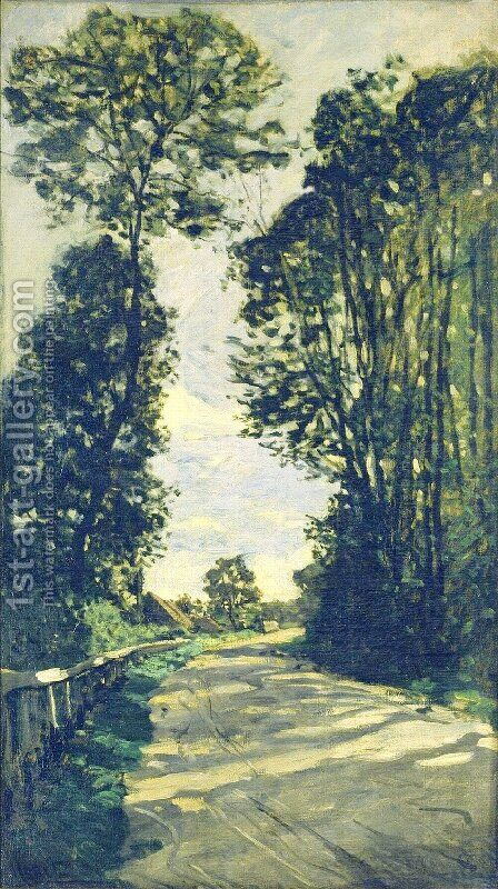 Road To The Saint Simeon Farm by Claude Oscar Monet - Reproduction Oil Painting