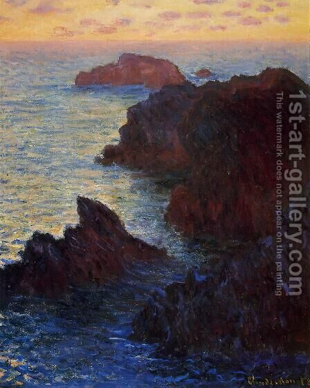Rocky Point At Port Goulphar by Claude Oscar Monet - Reproduction Oil Painting