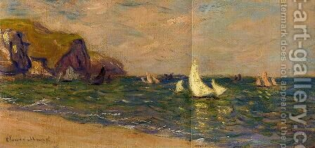 Sailboats At Sea  Pourville by Claude Oscar Monet - Reproduction Oil Painting