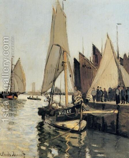 Sailing Boats At Honfleur by Claude Oscar Monet - Reproduction Oil Painting