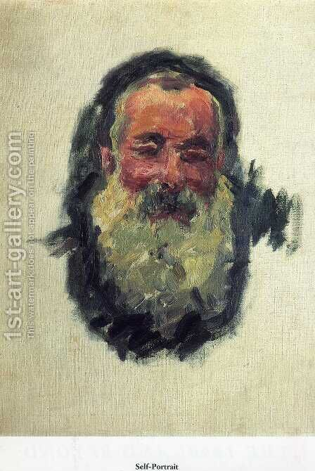 Self Portrait by Claude Oscar Monet - Reproduction Oil Painting