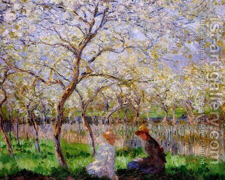 Springtime by Claude Oscar Monet - Reproduction Oil Painting