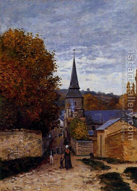 Street In Saint Adresse by Claude Oscar Monet - Reproduction Oil Painting