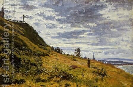 Taking A Walk On The Cliffs Of Sainte Adresse by Claude Oscar Monet - Reproduction Oil Painting
