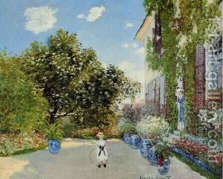 The Artists House At Argenteuil by Claude Oscar Monet - Reproduction Oil Painting