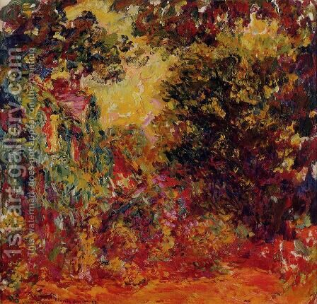 The Artists House Seen From The Rose Garden by Claude Oscar Monet - Reproduction Oil Painting