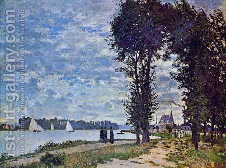 The Banks Of The Seine At Argenteuil by Claude Oscar Monet - Reproduction Oil Painting
