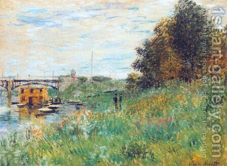 The Banks Of The Seine At The Argenteuil Bridge by Claude Oscar Monet - Reproduction Oil Painting