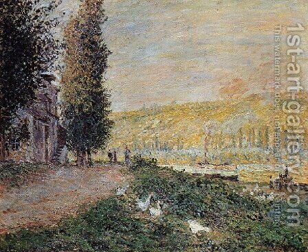 The Banks Of The Seine  Lavacour by Claude Oscar Monet - Reproduction Oil Painting