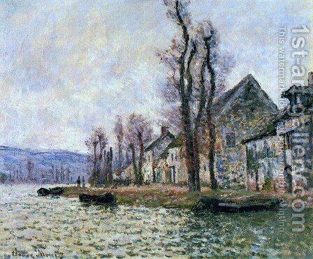 The Bend Of The Seine At Lavacourt  Winter by Claude Oscar Monet - Reproduction Oil Painting
