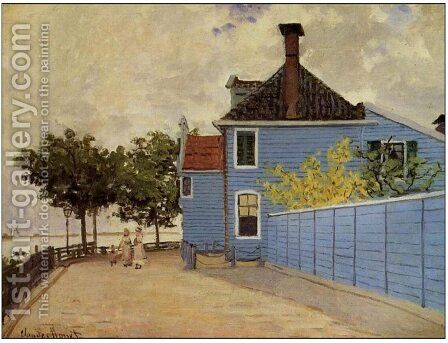The Blue House At Zaandam by Claude Oscar Monet - Reproduction Oil Painting