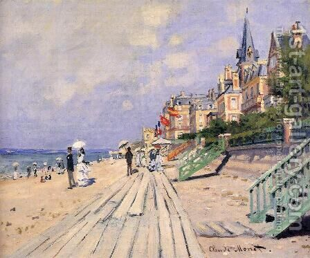 The Boardwalk At Trouville by Claude Oscar Monet - Reproduction Oil Painting