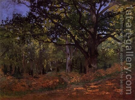 The Bodmer Oak  Fontainebleau by Claude Oscar Monet - Reproduction Oil Painting