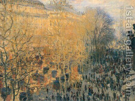 The Boulevard Des Capuchine Aka Boulevard Des Capucines by Claude Oscar Monet - Reproduction Oil Painting