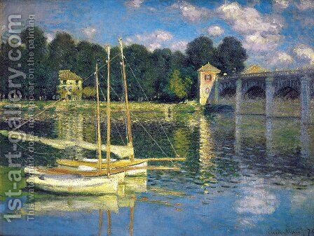 The Bridge At Argenteuil by Claude Oscar Monet - Reproduction Oil Painting