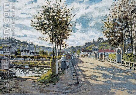 The Bridge At Bougival by Claude Oscar Monet - Reproduction Oil Painting