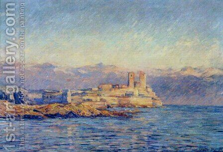 The Castle In Antibes by Claude Oscar Monet - Reproduction Oil Painting