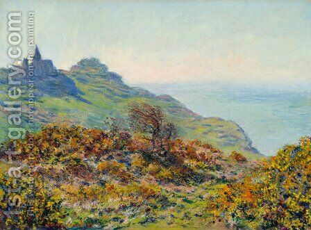 The Church At Varengeville And The Gorge Of Les Moutiers by Claude Oscar Monet - Reproduction Oil Painting