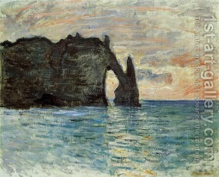The Cliff At Etretat by Claude Oscar Monet - Reproduction Oil Painting