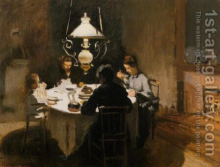 The Dinner by Claude Oscar Monet - Reproduction Oil Painting
