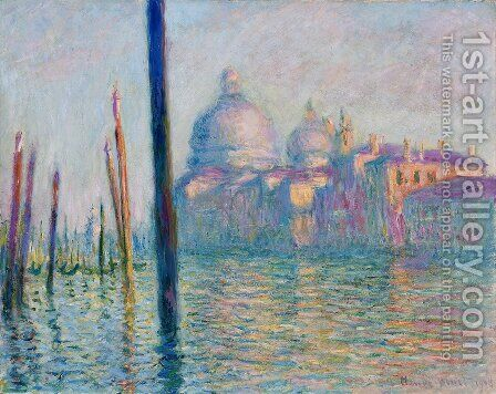 The Grand Canal  Venice by Claude Oscar Monet - Reproduction Oil Painting