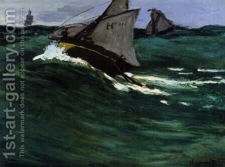 The Green Wave by Claude Oscar Monet - Reproduction Oil Painting
