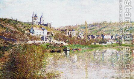 The Hills Of Vetheuil by Claude Oscar Monet - Reproduction Oil Painting