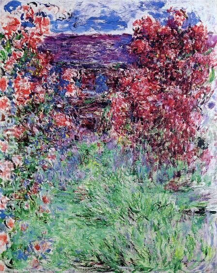 The House Among The Roses2 by Claude Oscar Monet - Reproduction Oil Painting