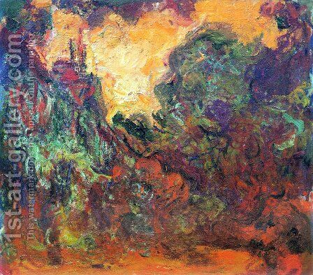The House Seen From The Rose Garden by Claude Oscar Monet - Reproduction Oil Painting