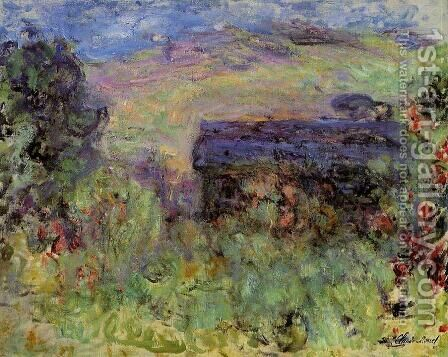 The House Seen Through The Roses by Claude Oscar Monet - Reproduction Oil Painting