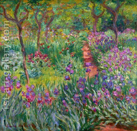 The Iris Garden At Giverny by Claude Oscar Monet - Reproduction Oil Painting