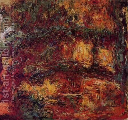 The Japanese Bridge At Giverny by Claude Oscar Monet - Reproduction Oil Painting