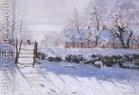 The Magpie by Claude Oscar Monet - Reproduction Oil Painting