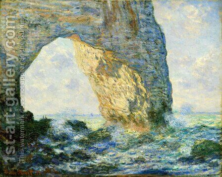 The Manneport  Etretat by Claude Oscar Monet - Reproduction Oil Painting