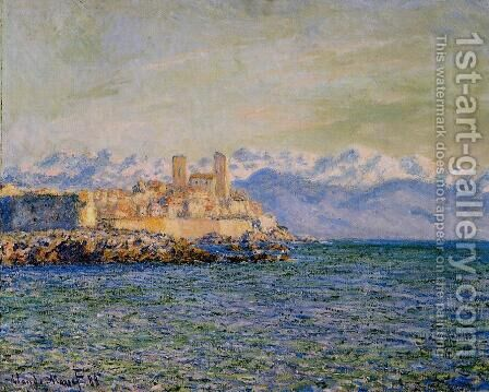The Old Fort At Antibes Aka The Fort Of Antibes by Claude Oscar Monet - Reproduction Oil Painting