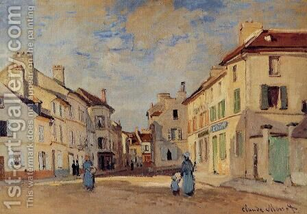 The Old Rue De La Chaussee  Argenteuil by Claude Oscar Monet - Reproduction Oil Painting