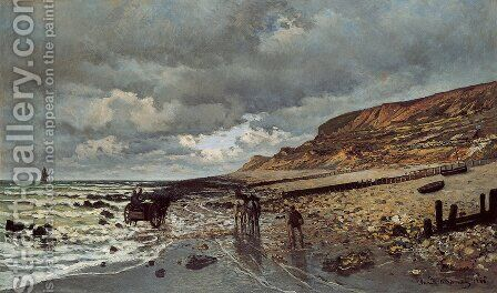 The Pointe De La Heve At Low Tide by Claude Oscar Monet - Reproduction Oil Painting