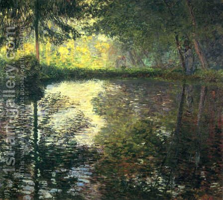 The Pond At Montgeron by Claude Oscar Monet - Reproduction Oil Painting