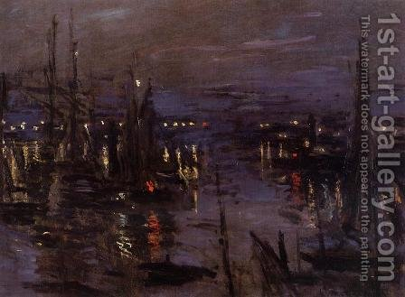 The Port Of Le Havre  Night Effect by Claude Oscar Monet - Reproduction Oil Painting