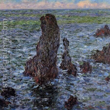 The Pyramids At Port Coton by Claude Oscar Monet - Reproduction Oil Painting