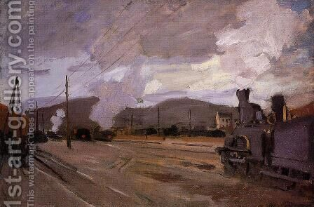 The Railroad Station At Argenteuil by Claude Oscar Monet - Reproduction Oil Painting