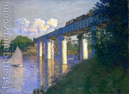 The Railway Bridge At Argenteuil3 by Claude Oscar Monet - Reproduction Oil Painting