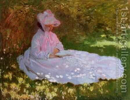 The Reader by Claude Oscar Monet - Reproduction Oil Painting