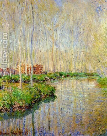 The River Epte by Claude Oscar Monet - Reproduction Oil Painting