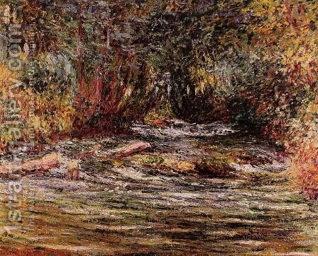 The River Epte At Giverny by Claude Oscar Monet - Reproduction Oil Painting